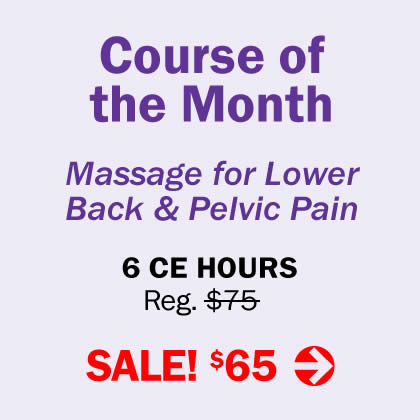 Course of the Month - Massage for Lower Back & Pelvic Pain