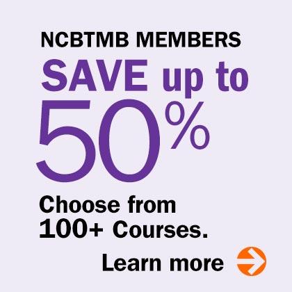 NCBTMB Members Save up to 50%